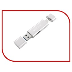 Satechi Aluminum Type-C USB 3.0 and Micro/SD Card Reader (серебристый)