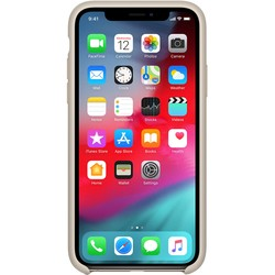 Apple Silicone Case for iPhone XS Max (бежевый)