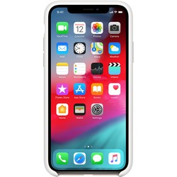 Apple Silicone Case for iPhone XS Max (белый)