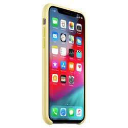 Apple Silicone Case for iPhone XS Max (желтый)