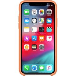 Apple Silicone Case for iPhone XS Max (оранжевый)