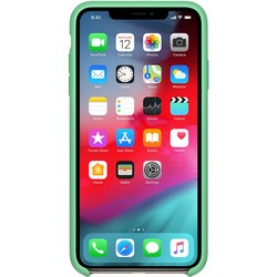 Apple Silicone Case for iPhone XS Max (салатовый)