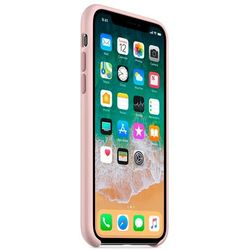 Apple Silicone Case for iPhone X/XS (бежевый)