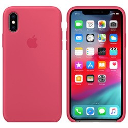 Apple Silicone Case for iPhone X/XS (красный)