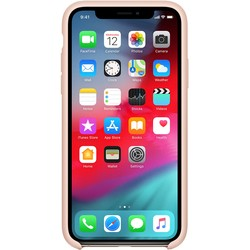 Apple Silicone Case for iPhone X/XS (песочный)