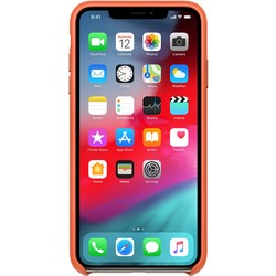 Apple Leather Case for iPhone XS Max (оранжевый)