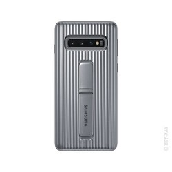 Samsung Leather Cover for Galaxy S10 (серебристый)