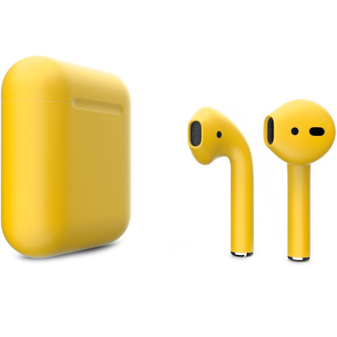 Apple AirPods 2 with Charging Case (желтый)