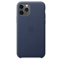 Apple Leather Case for iPhone 11 Pro (синий)