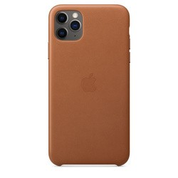 Apple Leather Case for iPhone 11 Pro Max (коричневый)