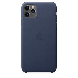 Apple Leather Case for iPhone 11 Pro Max (синий)