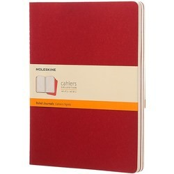 Moleskine Set of 3 Ruled Cahier Journals XLarge Red