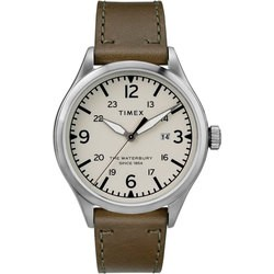 Timex Waterbury Traditional 40mm Leather Strap Watch TW2R71100