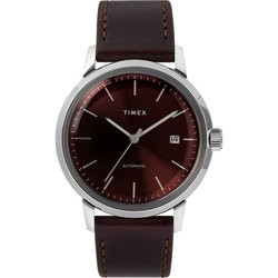 Timex Marlin Automatic 40mm Leather Strap Watch TW2T23200