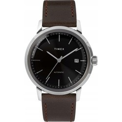 Timex Marlin Automatic 40mm Leather Strap Watch TW2T23000