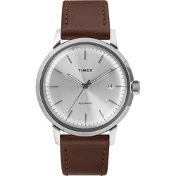 Timex Marlin Automatic 40mm Leather Strap Watch TW2T22700